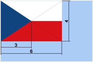 Rozměry české vlajky
