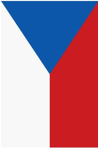Jedině takto lze pověsit vlajku ČR svisle.